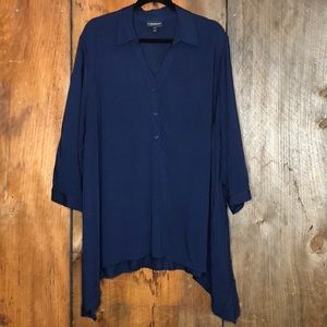 Lane Bryant Navy Top Size 22/24 GUC